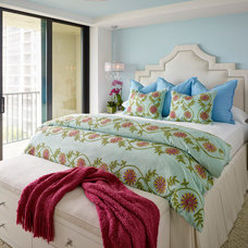Beach Style Bedroom by LAURA MILLER, ASID, NCIDQ: INTERIOR DESIGN