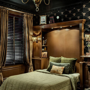 This is an example of a victorian bedroom in Boston.