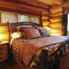 traditional bedroom by Mountain Log Homes & Interiors