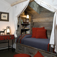 eclectic bedroom by Montana Reclaimed Lumber Co.