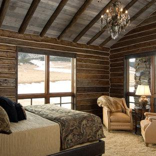 Imagen de dormitorio rural sin chimenea
