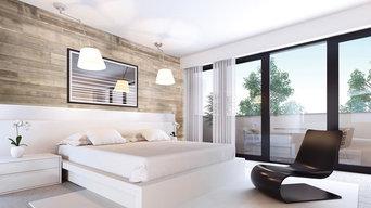 Beautiful Canadian Decorative Hardwood Wall Panel System , installed with minimu