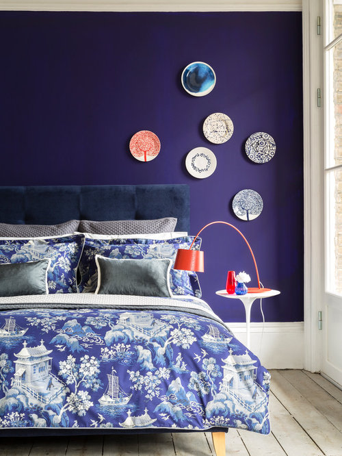 blue bedroom design ideas remodels photos houzz. beautiful ideas. Home Design Ideas