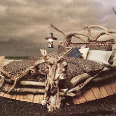 Eclectic Bedroom Bed of Driftwood
