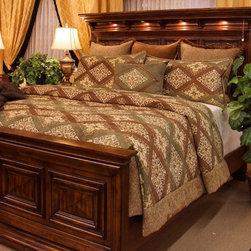 K&R Bedspreads - Bedding 2013 - King Meadow Coverlet Set: