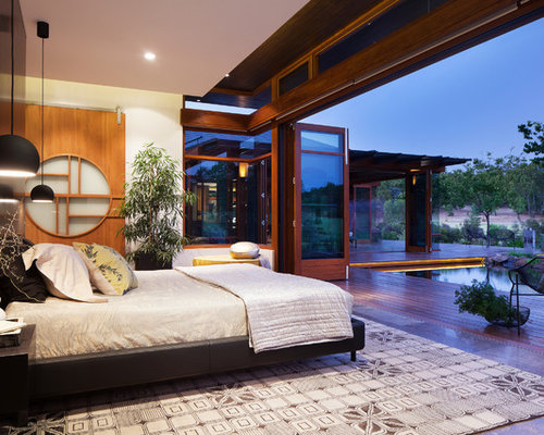 Lovely Design Ideas For A Large Asian Master Bedroom In Perth With White Walls. Part 20