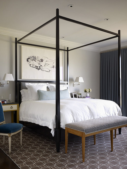 Four Poster Bed With Curtains four poster bed with curtains | houzz