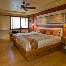 Asian Bedroom by Archipelago Hawaii Luxury Home Designs