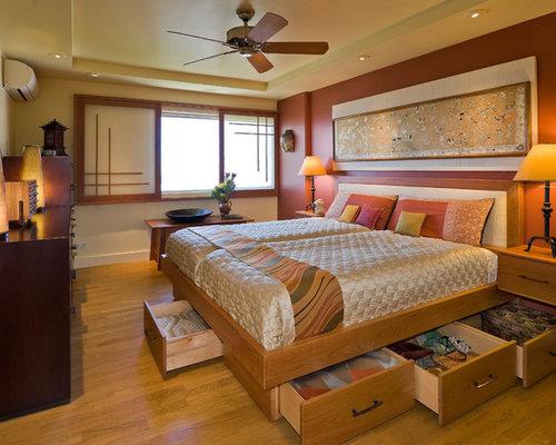 Camere Da Letto Stile Etnico Immagini : Camera da letto etnica con pareti arancioni foto e idee per arredare