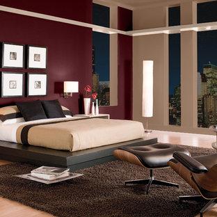 Bedroom - modern bedroom idea in Orange County
