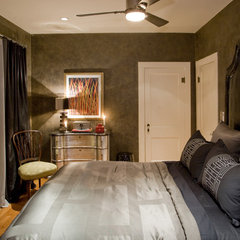 eclectic bedroom by Chris Jovanelly Interior Design