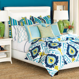 Bedroom comforter/duvet/pillows - Gorgeous set with a tropical flair! We can also custom made using any size and material.