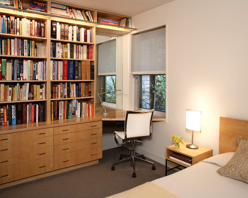 Small bedroom with desk houzz Small bedroom desk