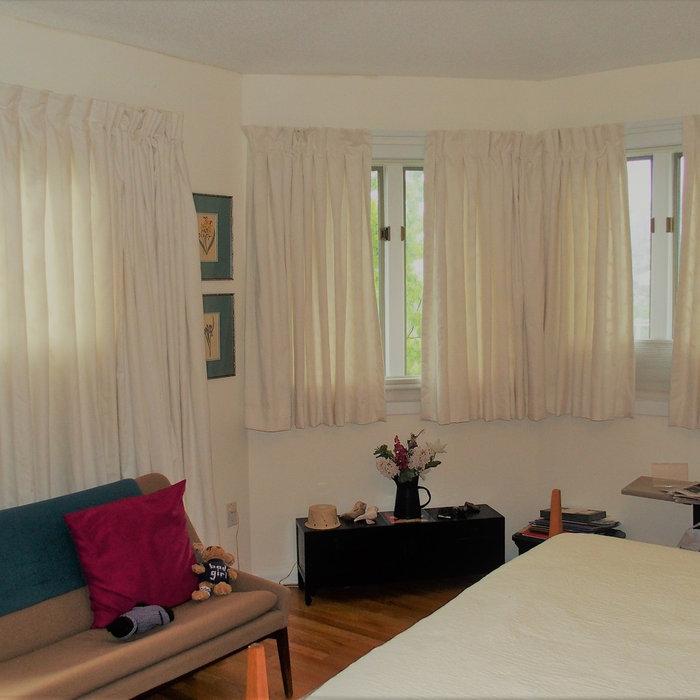 Calm Monochromatic Bedroom