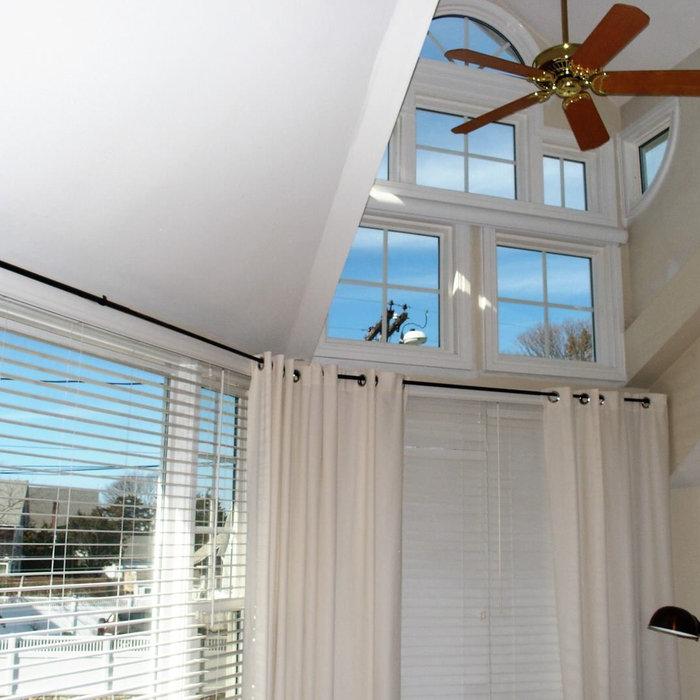 Two Story Bedroom Window to Fix Outside Street Light