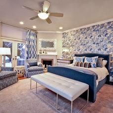 Eclectic Bedroom by Dietz & Associates Inc.