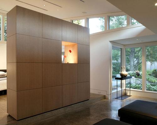 Superb Example Of A Minimalist Concrete Floor Bedroom Design In Dallas