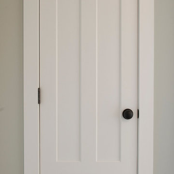 Bedroom Door - Farmhouse 3 Panel White Painted Wood