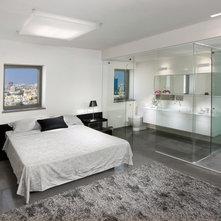 master bedroom with open bathroom. contemporary bedroom by elad gonen master with open bathroom houzz