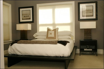modern bedroom by Fowler Interiors