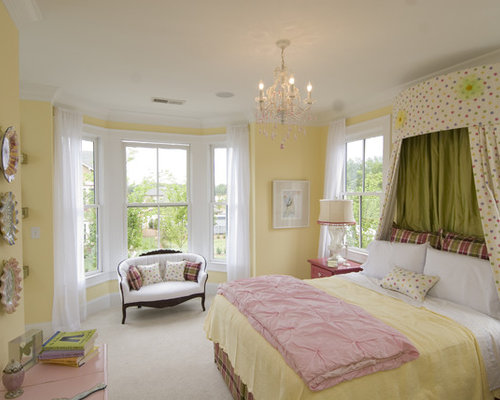 Yellow paint bedroom design ideas remodel pictures houzz for Bedroom yellow paint