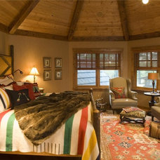 Rustic Bedroom by Gabberts Design Studio