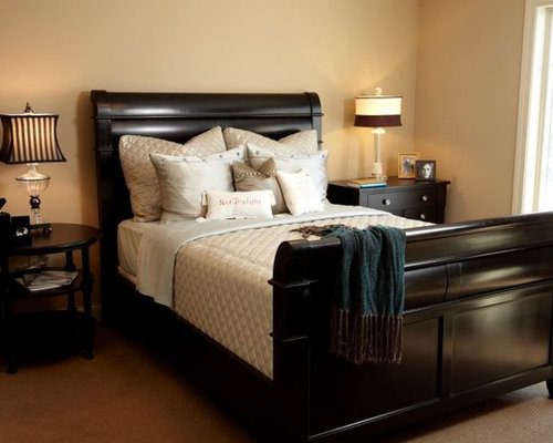 mahogany bedroom furniture. example of a trendy bedroom design in minneapolis mahogany furniture e