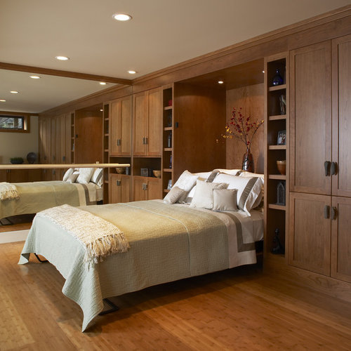 Inspiration for a contemporary medium tone wood floor bedroom remodel in  San Francisco. Murphy Bed Cabinet   Houzz