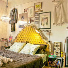 eclectic bedroom by Heather Merenda