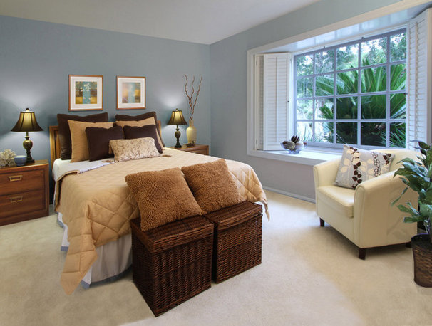 Contemporary Bedroom by Renaissance Staging