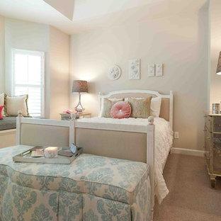 Ispirazione per una camera da letto shabby-chic style