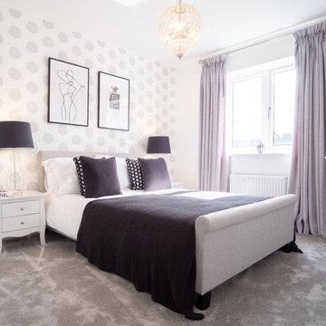 Bedroom interior design for Persimmon Homes Longbridge