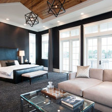 Transitional Bedroom by Kenneth Brown Design