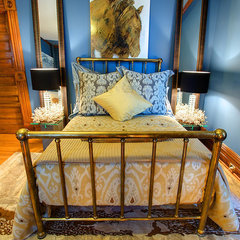 eclectic bedroom by Kevin Gray Interiors Inc