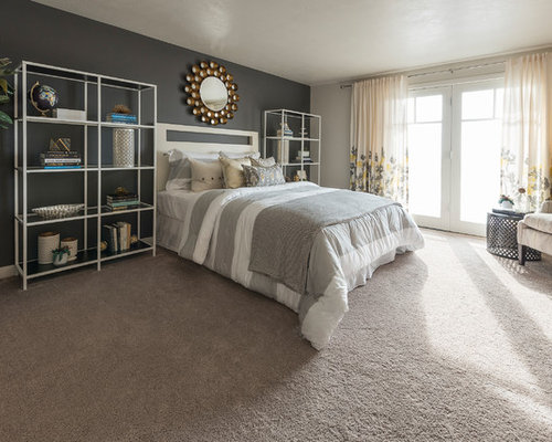 Gray Carpet Bedroom Ideas And Photos | Houzz