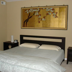 asian bedroom by LMR Designs, LLC
