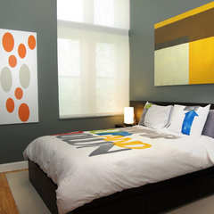 contemporary bedroom by (m) + charles beach INTERIORS