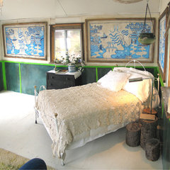 eclectic bedroom bedroom - maine cottage - wary meyers decorative arts