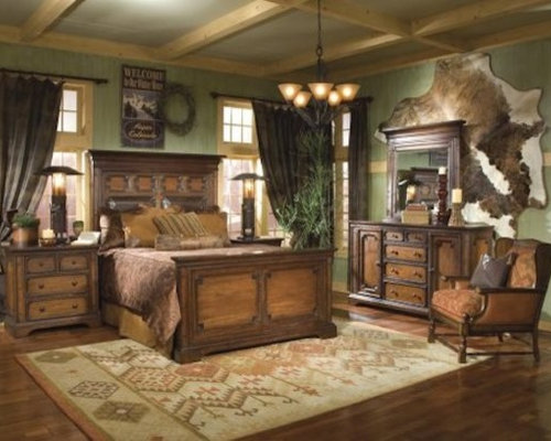 Country style bedroom houzz for Southern style bedroom