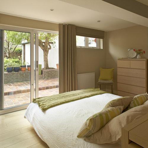 light wood furniture exclusive. Modern Light Wood Floor Bedroom Idea In Dublin With Beige Walls Furniture Exclusive D