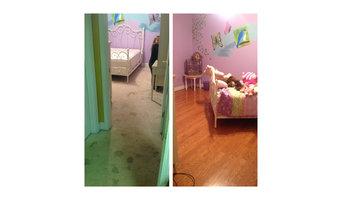 Bedroom remodel from carpet to hardwood