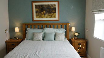Bedroom - Restful Colours, walls repainted with new soft furnishings