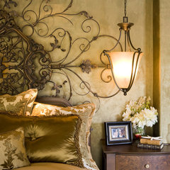 mediterranean bedroom by Robeson Design