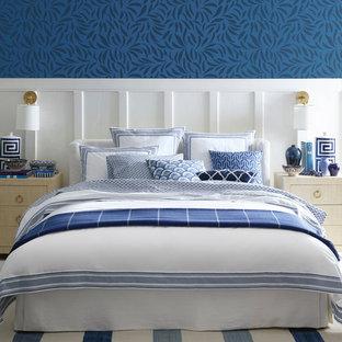 サンフランシスコのビーチスタイルのおしゃれな寝室のインテリア
