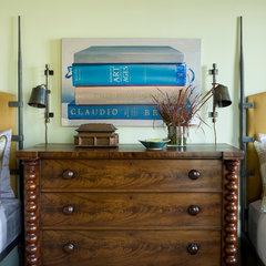 eclectic bedroom by Sightline Art Consulting
