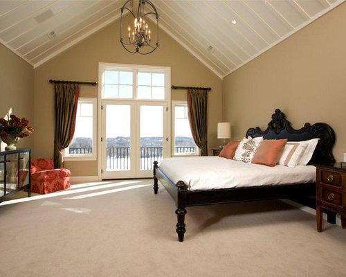 vaulted ceiling bedroom houzz