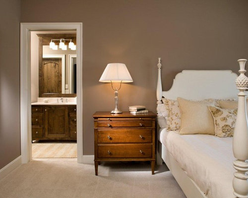 Inspiration For A Timeless Carpeted Bedroom Remodel In Minneapolis With  Gray Walls