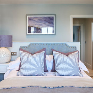 Bedroom styling with oversized lamp and bespoke cushions