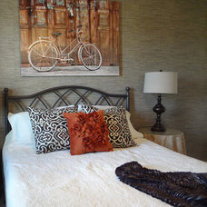 Eclectic Bedroom by Sunlight Staging & Home Decor