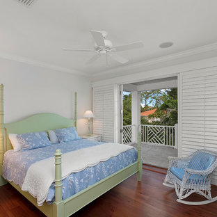 Example of an island style bedroom design in Miami
